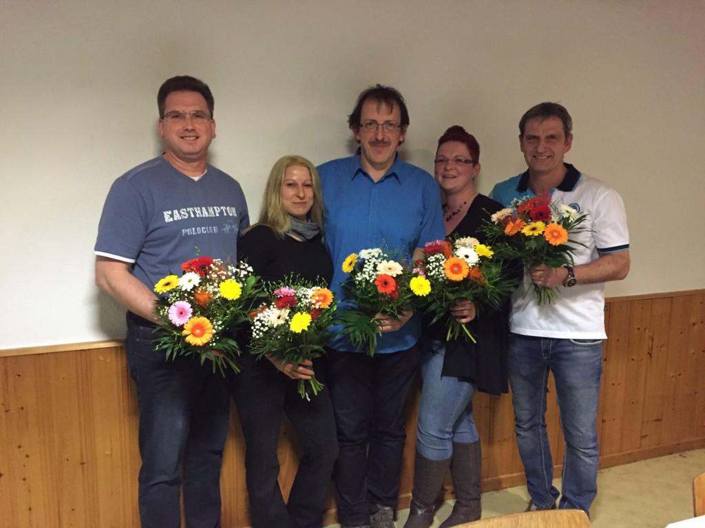 Neuer und alter Vorstand (von links): Stefan Kreußel, Nicole Hennlein, René Koch, Susan Günzel, René Voigt (es fehlt: Heike Griebel)